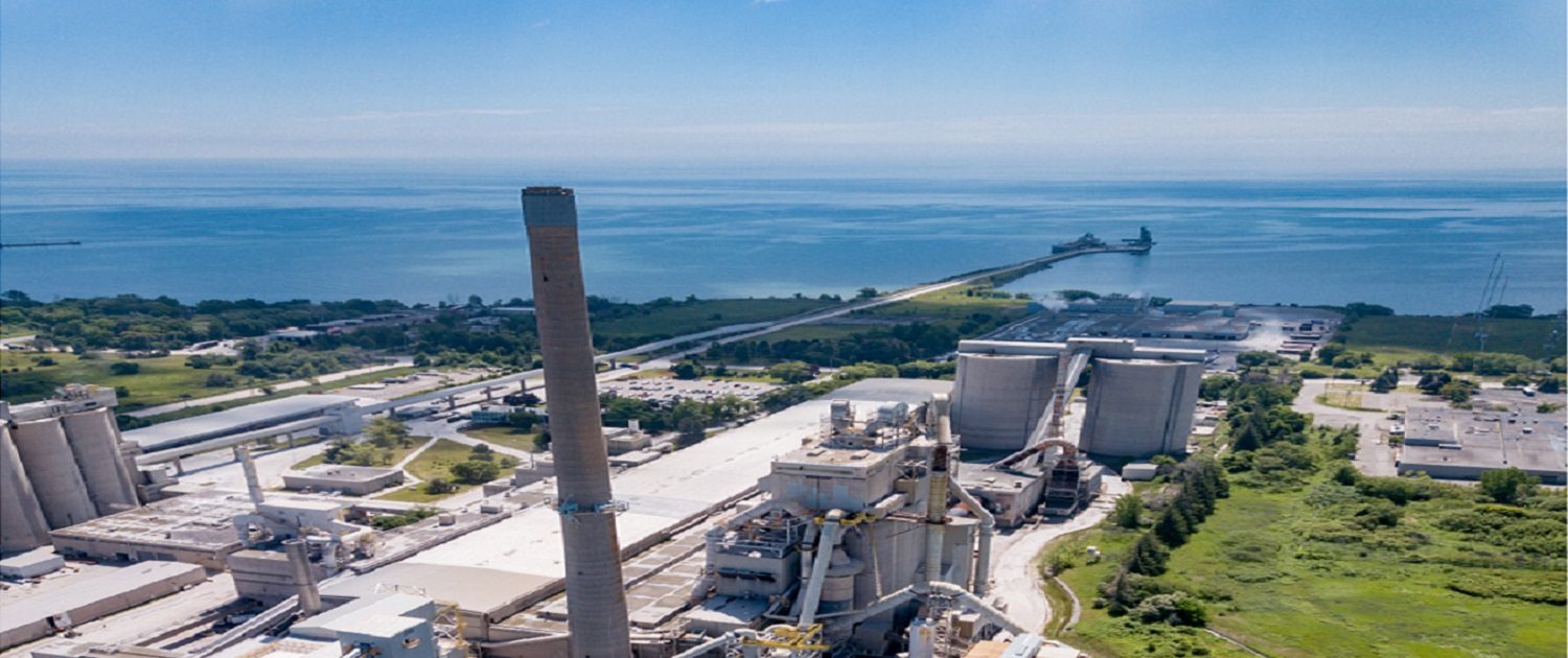 CRH Mississauga Cement Plant Ariel Image